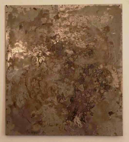 Arte Chimica dei Metalli - Acidatura su lastra di ferro lava