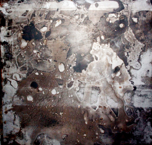Arte Chimica dei Metalli - Acidatura su lastra di ferro luna