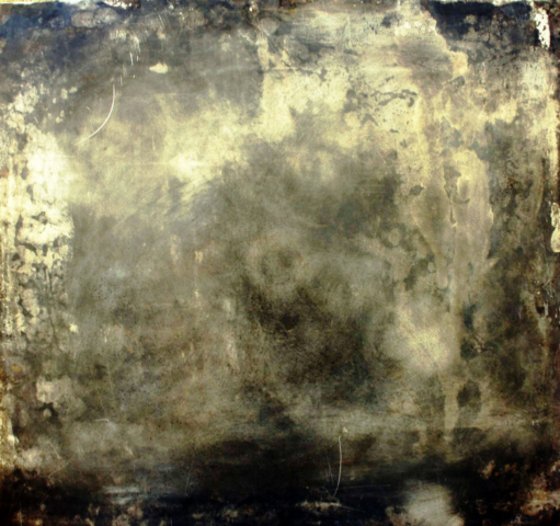 Arte Chimica dei Metalli - Acidatura su lastra di ferro nero dorata