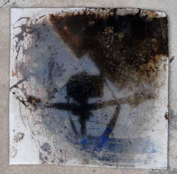 Arte Chimica dei Metalli - Acidatura su lastra di ferro ombre