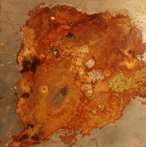 Arte Chimica dei Metalli - Gengiva acidatura su ferro resinata