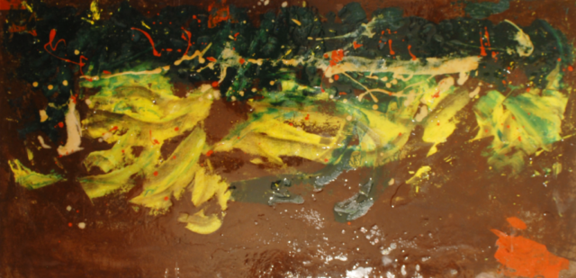 Arte Chimica dei Metalli - Pannello arrugginito dipinto con oli