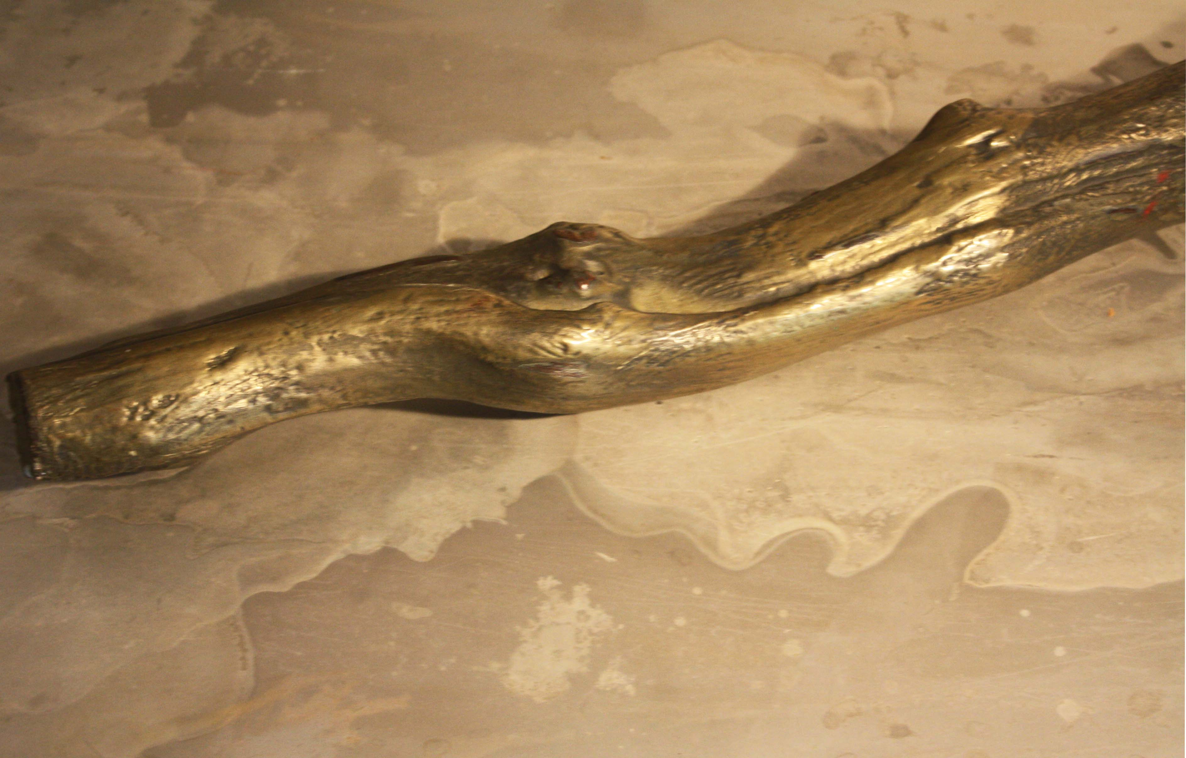 Arte Chimica dei Metalli - Polvere di ottone su ceppo di vigna