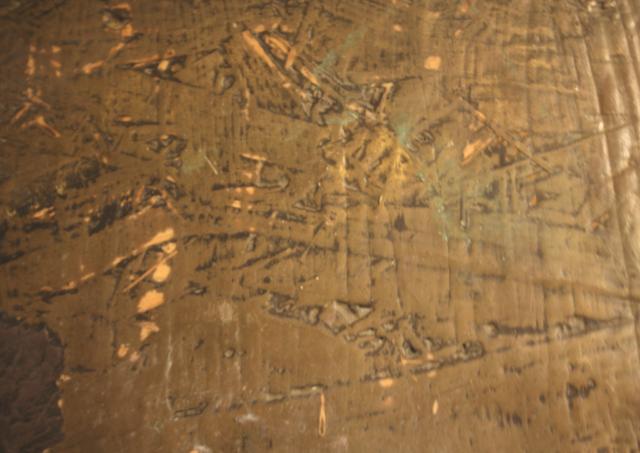 Arte Chimica dei Metalli - Polvere di ottone su faesite